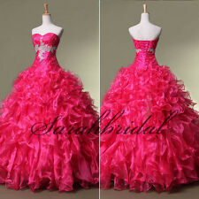 Rose Red Cross Appliques Girls Formal Ball Gowns In Stock 2014 Quinceanera Dress