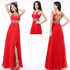 Sexy Red Long Formal Ball Cocktail Prom Wedding Bridesmaid Dresses Evening Gowns
