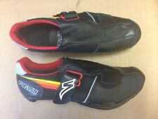 Specialized 5500 Velcro Racing Leather Road Shoes, Retro / Vintage NOS - Black