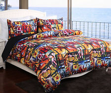 ALOHA Beach Theme 3 Pce Quilt / Doona Cover Set  Queen or King Size NEW
