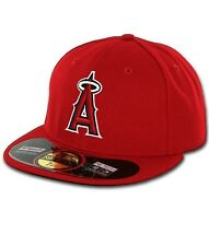 LA ANGELS of Anaheim GAME Home Red New Era AC 59Fifty MLB Fitted Hats Caps