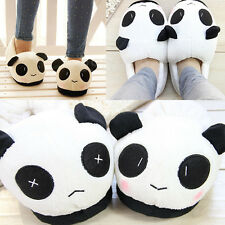 Men's Women Winter Indoor Home Slipper Cute Panda Warm Soft Plush Antiskid Shoes