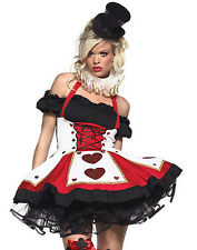 Sexy Queen of Heart Magician Playing Card Alice in Wonderland Costume