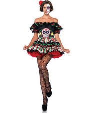 Sexy Day Of The Dead Dia De Los Muertos Mexico Skull Halloween Costume