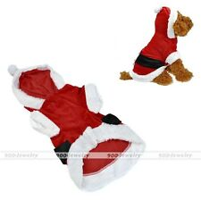 Pet Puppy Dog Christmas Santa Claus Costume Jumper Coat Apparel Clothes Hoodie