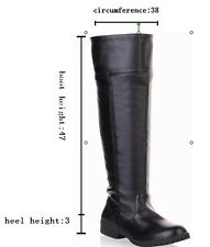 Attack on Titan Cosplay Over the Knee Boots Military Boots US size 7-12 Big size