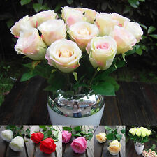 1 PCS Rosa Champagne Craft Silk Flowers Decor Rose Party Wedding Christmas Gift