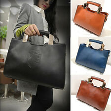 Womens Leather Tote Handbag Shoulder Crossbody Messenger Satchel Bag Briefcase
