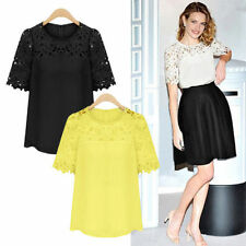 Fashion Women Casual Loose Casual Short Sleeve Vest Shirt Tops Blouse Ladies Top