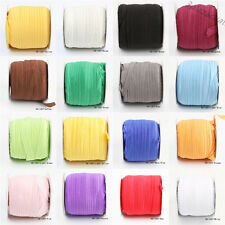 """5Yards 5/8"""" Fold Over Elastic Spandex Satin Band Lace Sewing Ties Accessories"""