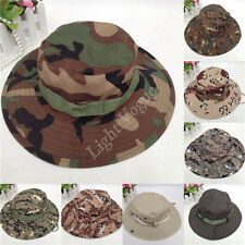 New Men Army Camo Hunting Fishing Hiking Outdoor Cap Bucket Hat Boonie Sun Hat