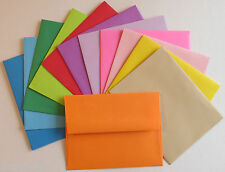 PE28 ~ A2 Color Paper Greeting Card Envelopes 60# 4 3/8 x 5 3/4  Color or White
