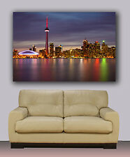 """Night Toronto skyline Huge canvas print, rogers center and CN tower 30""""x40"""""""