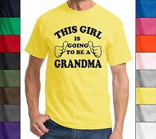 This Girl Is Going To Be A Grandma Funny New Baby Gift Mothers Grandma T Shirt