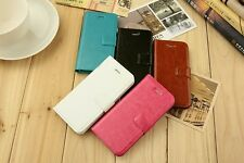 NEW iPhone 5 and 5s Leather Flip Case Cover Card Slot Stand Wallet Magnetic