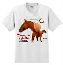 Tennessee Walker Horse  T'shirt  Nature Horses Wild White or Pink Tee