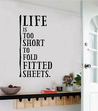 Laundry Room Decor Lifes Too Short To Fold Vinyl Decal Wall Stickers Letters Art