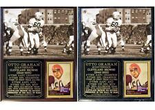 Otto Graham Cleveland Browns NFL Champion Hall of Fame Photo Card Plaque