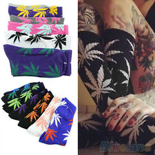 Fashionable Marijuana Leaf Ankle High Socks Plantlife Cotton Socks One Size