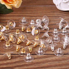 50pcs Earring Backs Stoppers Findings Ear Post Nuts Jewelry Findings Stylist