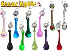 * 5 CRYSTALS CHANDELIER DROPLETS ORBS DROPS BEADS CHRISTMAS TREE DECORATIONS