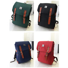 Fashion Womens Mens Backpacks Canvas Bag Rucksack Travel Gym School College A