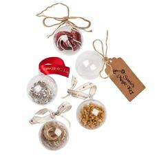 Clear Christmas Craft baubles Bath Bomb Moulds