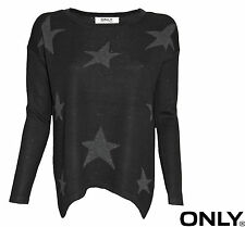 ONLY DAMEN OBERTEIL TOP STRICK AMERICA PARTY L/S PULLOVER KNT GR. XS, S, M, L