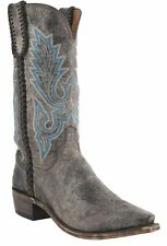 Lucchese M2611 54 Mens Chocolate Distressed Calf Leather Western Cowboy Boots
