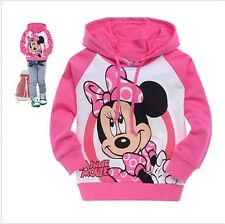 Girl Baby Kids Pink Minnie mouse Sweatshirt Hooded Top T-shirt Thin Coat