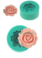 1Pc New 3D Rose Flower Fondant Cake Chocolate Mold Cutter Silicone Tools For DIY