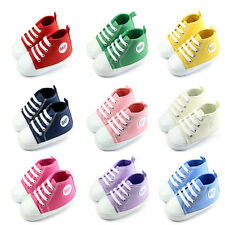 Infant Toddler Baby Boy Girl Soft Sole Crib Shoes Sneaker Cute 3 Size CC