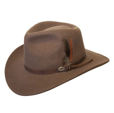 NEW Conner Men's CRUSHABLE Water Proof WOOL Aussie Cowboy Hat Brown C1001