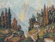 ALPINE COTTAGE # 2 - CROSS STITCH CHART