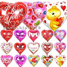 """Many 18"""" Valentine's Day New Helium Foil Balloon Love Heart Party Supplies Decor"""