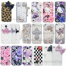 Luxury 3D New Bling Handmade Crystal Glitter Design Case Cover For iPhone Galaxy