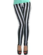 LIP SERVICE STRIPE  BLACK AND WHITE WOMEN JEANS US SIZES
