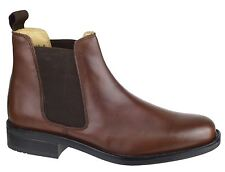 Cotswold Colesbourne Mens Brown Flexible Fit Slip On Fastening Ankle Boots