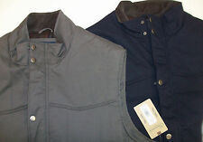 NWT ROUNDTREE & YORKE FULL ZIP QUILTED COTTON INSULATED VEST BLUE  GRAY 3XLT 2XB