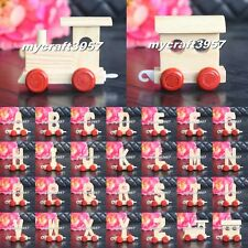 Wooden Train Letters Wood Trains Personalised Name Gift Boy Girl Christening NEW