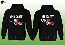 Couple Hoodie He She is My One and Only His and Hers Couple Matching Sweat Shirt