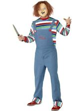 Licensed Childs Play Chucky Halloween Mens Fancy Dress Costume Adult Outfit Sale