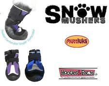 Dog Shoes Leather Fleece Lined Winter WATERPROOF Boots Booties Muttluks Sizes