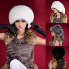 Fashion Warm Winter Tail Beanie Beret Cap Womens Faux Fur Ear Earflap Hat B44