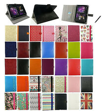 """Premium Universal Multi Angle Wallet Tablet Case Cover for 7"""" - 8"""" inch & Stylus"""