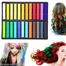 High Quality Nontoxic Temporary Hair Chalk Colour Dye Saloon Pastels DIY Kit lot