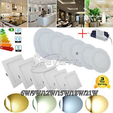 LED Recessed Ceiling Lights 21W 18W 15W 12W 9W 6W Panel  Fixture Downlight Bulbs