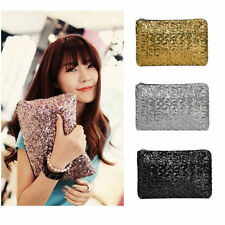 Women Sequins Dazzling Glitter Sparkling Clutch Purse Bag Evening Party Handbag