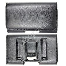 PREMIUM Quality Leather Sideways Clip Case Pouch Holster for Alcatel Cell Phones