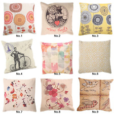 "18"" Retro Square Home Decor Cushion Cover Throw Pillow Case Back Sofa Flower"